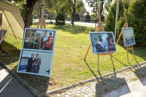 Изложба по повод 40г. јубилеј од формирање на општинска организација Црвен крст Гази Баба 16.09.2017 Сабота